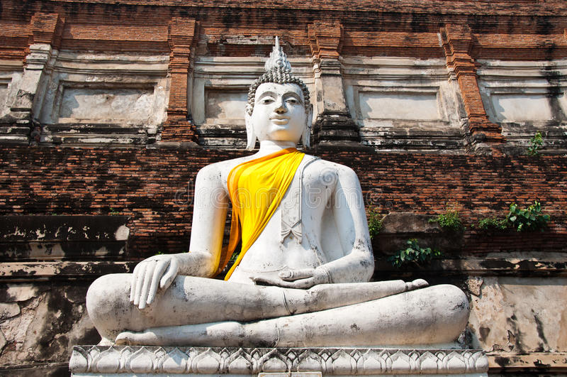 stara ayutthata świątynia Thailand obraz royalty free