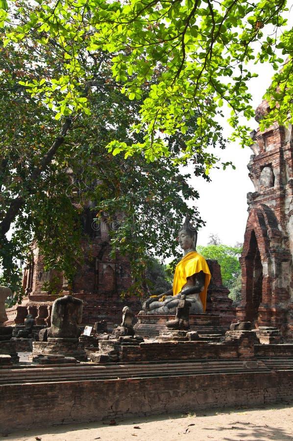 stara ayutthaya świątynia Thailand zdjęcia stock