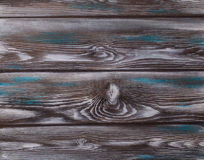 Stara błękitna drewniana tekstura z naturalnymi wzorami zdjęcie stock