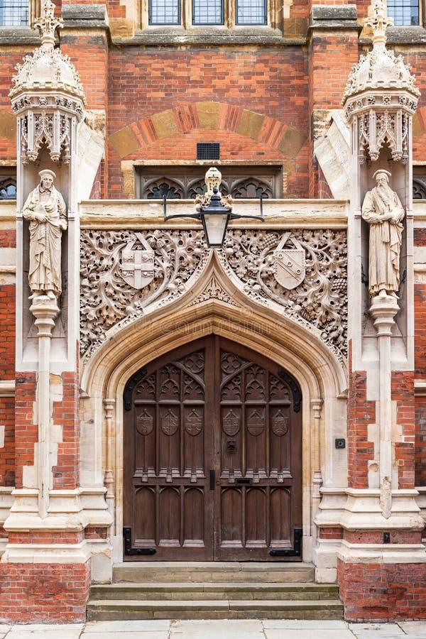 Stara bóstwo szkoła St John ` s szkoła wyższa cambridge Anglii zdjęcia royalty free