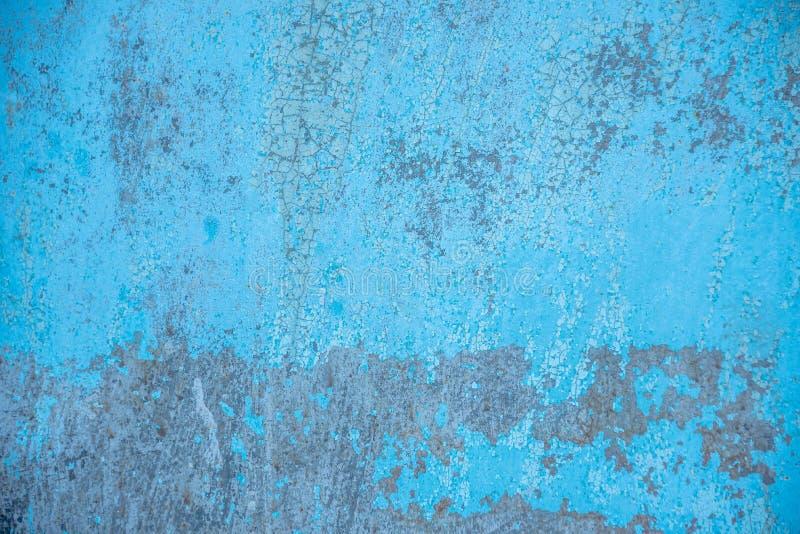 Stara błękit ściany tła tekstura obraz stock