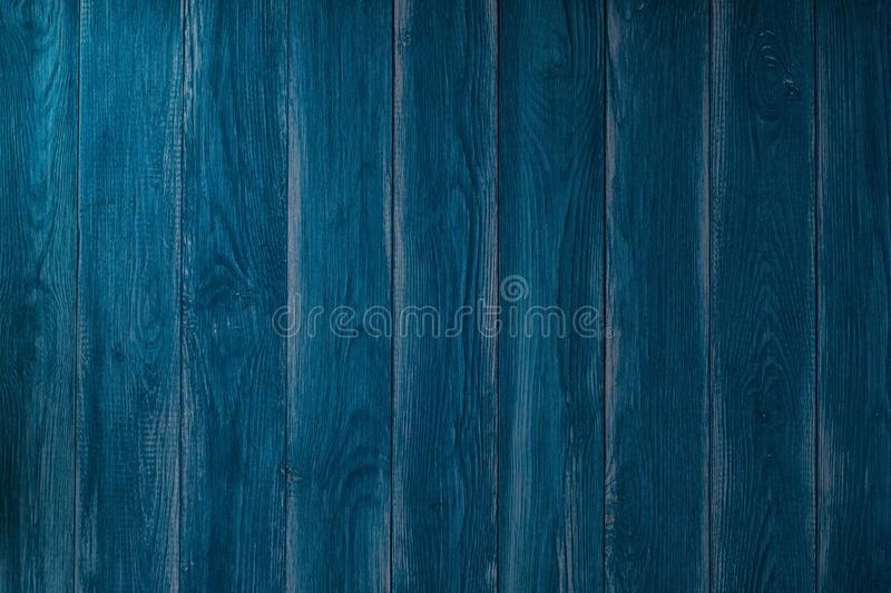 Stara błękitna drewniana tekstura z naturalnymi wzorami obraz stock