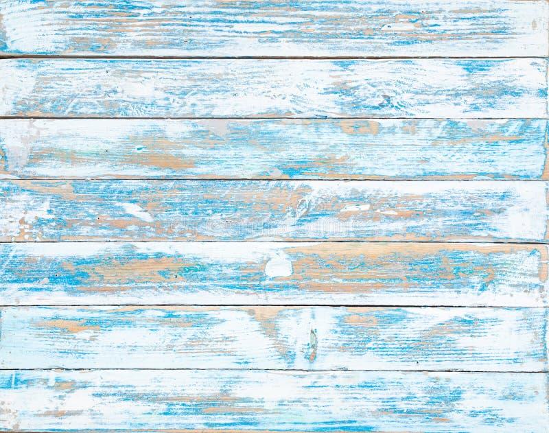 Stara b??kitna drewniana tekstura z naturalnymi wzorami obraz stock