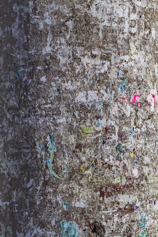 Stara betonowej ściany tekstura, pęka narysy szczerbiących się obraz royalty free