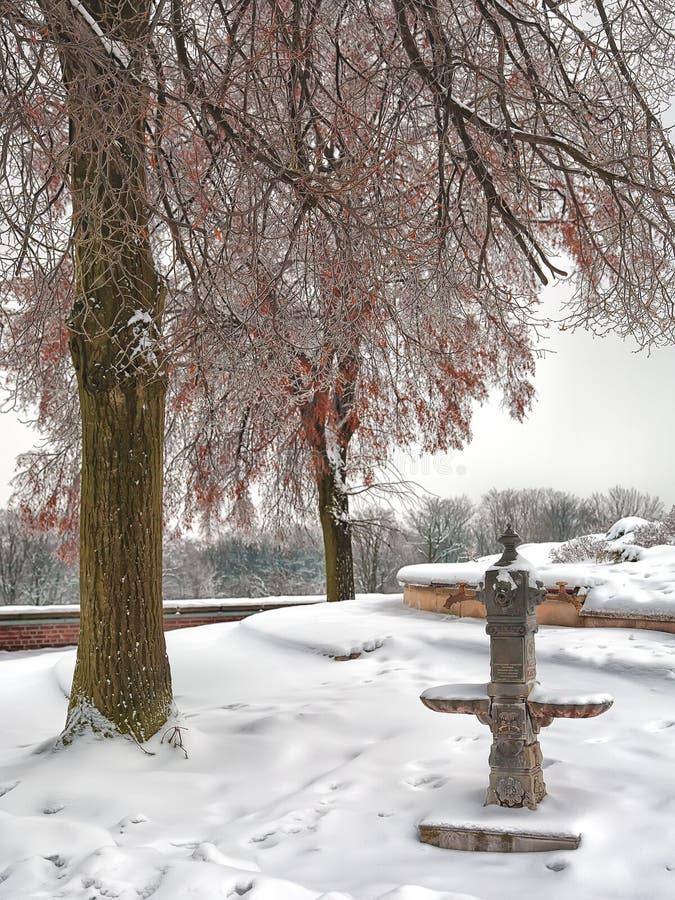 Download Stara Bezczynnie Pompa Wodna W śnieżystym Miasto Parku Obraz Stock - Obraz złożonej z retro, park: 53782321