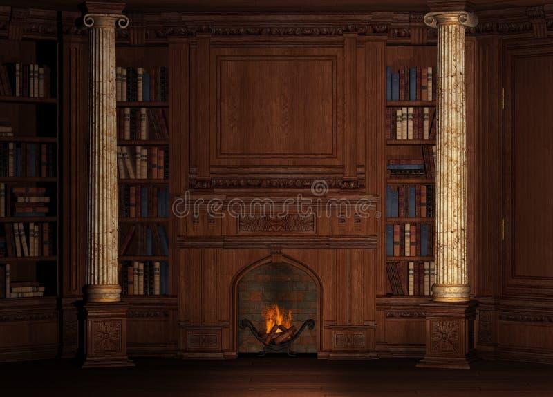 stara biblioteka royalty ilustracja