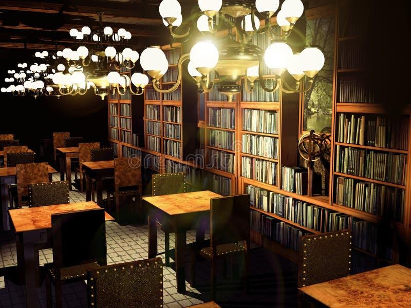 stara biblioteka ilustracji