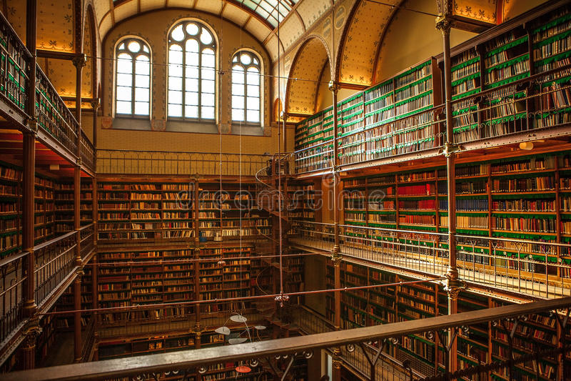 Stara biblioteka Rijksmuseum, Amsterdam obraz stock