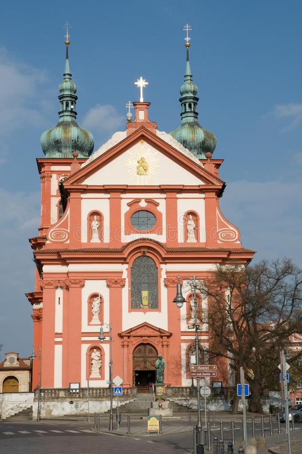Stara Boleslav, Czech republic. Church of the Assumption in Stara Boleslav, Central Bohemia,Czech republic stock image