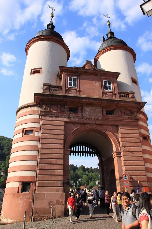 Download Stara Bridżowa Brama W Heidelberg Obraz Editorial - Obraz złożonej z wej, cielica: 28958160