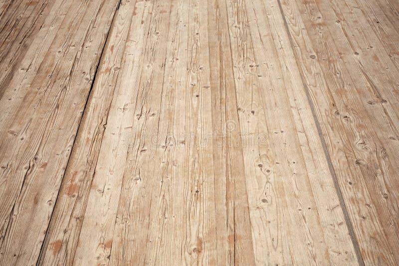 Stara brown drewniana podłogowa perspektywa tło szczegółów tekstury okno stary drewniane fotografia royalty free