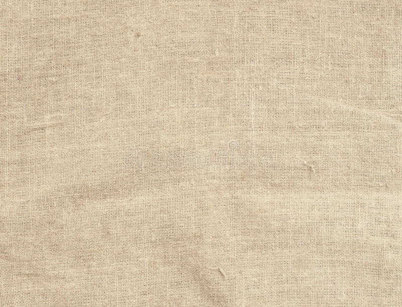 Stara brudna brown horyzontalna creasy burlap tekstura fotografia stock