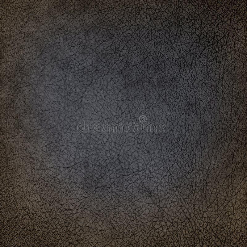 Stara brudna czarna rzemienna tekstura, use jako grunge tło obraz stock