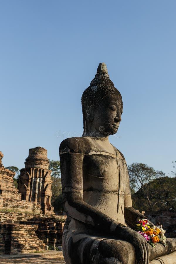 Stara Buddyjska świątynia Wat Mahathat fotografia royalty free
