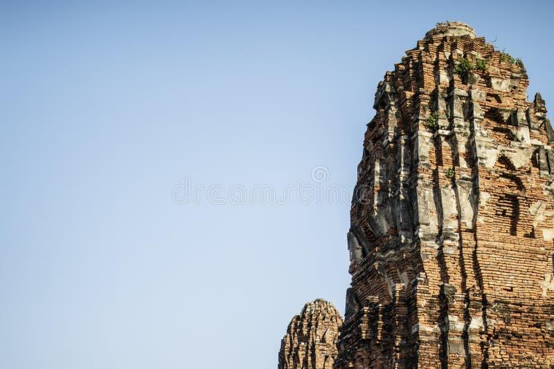 Stara Buddyjska świątynia Wat Mahathat zdjęcie royalty free