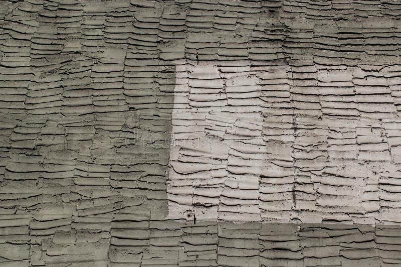 Stara cement ściana z wzorem kielnia podpisuje fotografia stock