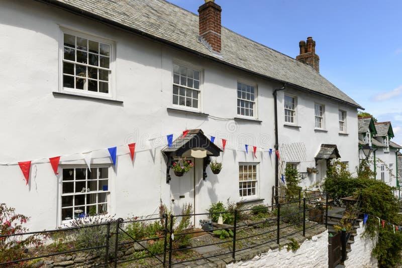Stara chałupa przy Clovelly, Devon zdjęcie royalty free