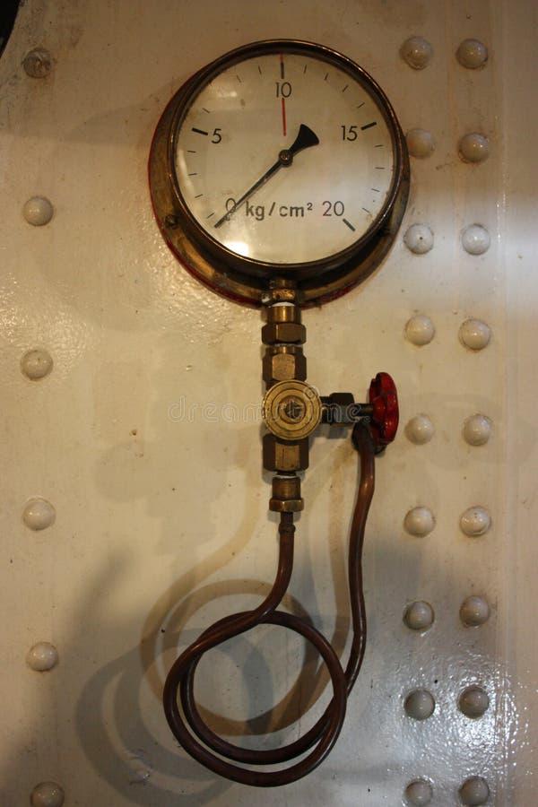 Stara cieplarka morski instrument dla pomiarowego naciska zdjęcia stock