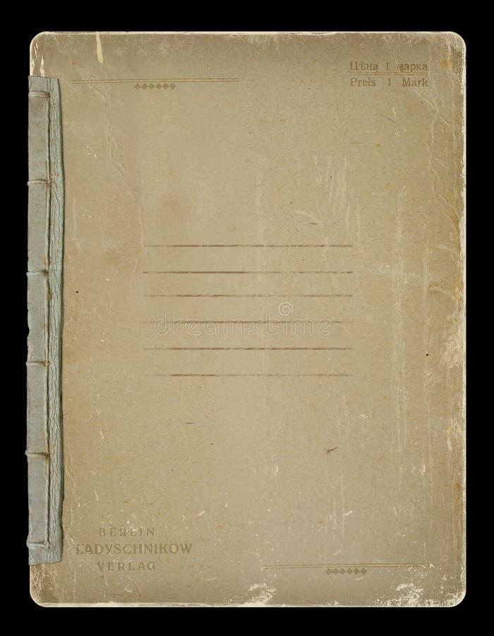 stara copybook książkowa pokrywa royalty ilustracja