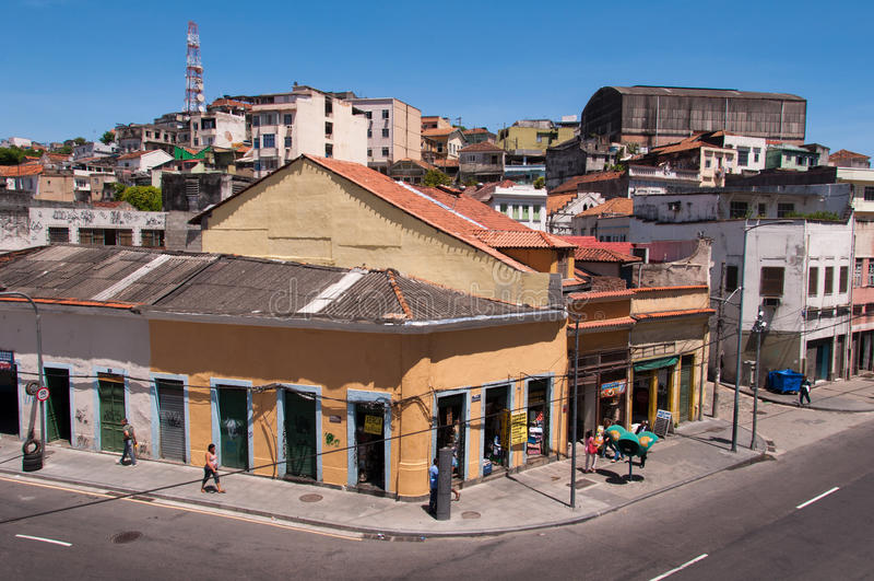 Stara część Rio De Janeiro obraz stock