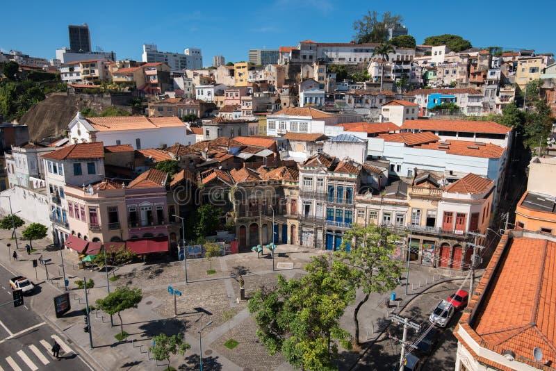 Stara część Rio De Janeiro miasto zdjęcia royalty free