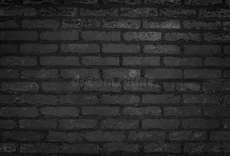 Stara Czarna ściany z cegieł tekstura w górę tła i obrazy royalty free