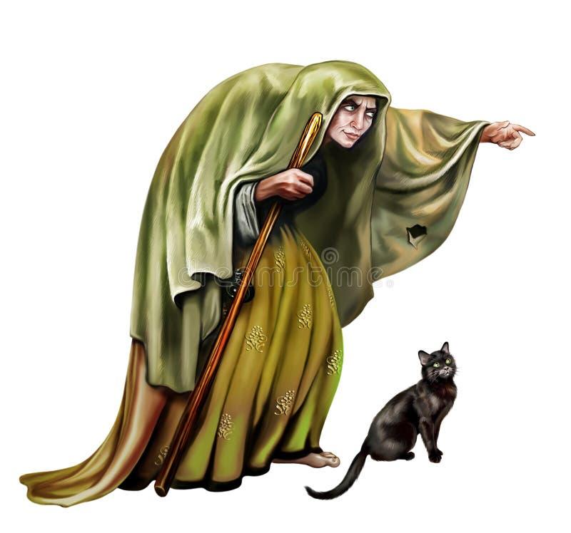 stara czarownica ilustracji