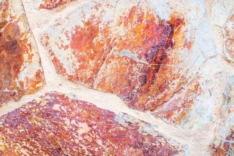 Stara czerwieni ściana pełno kamienni bloki zdjęcie royalty free