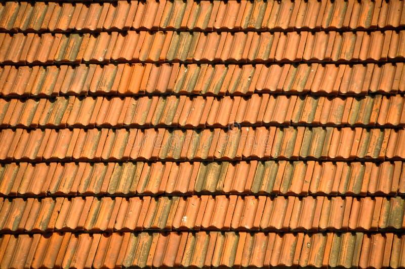 Stara czerwona dachowej płytki tekstura - kiremit zdjęcia royalty free