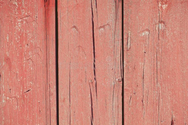 Stara czerwona drewniana tekstura zdjęcie royalty free