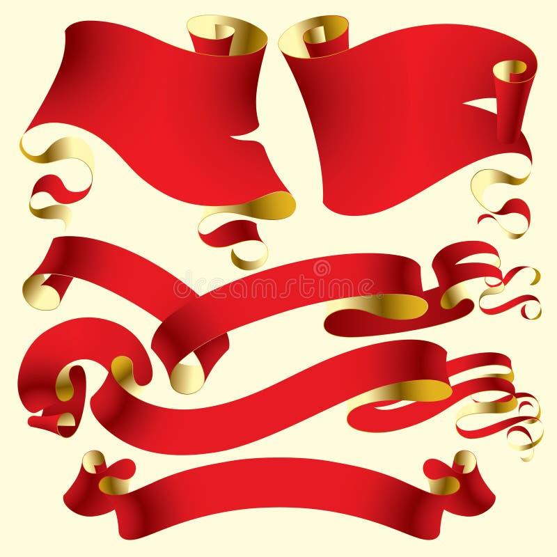 stara czerwona flaga ilustracji