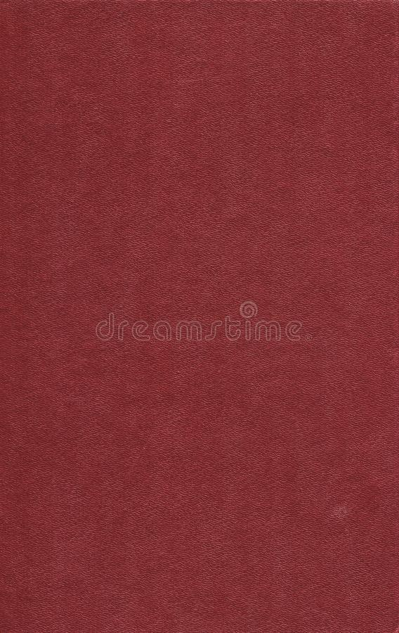 Stara czerwona rzemienna książkowa pokrywa Tło zdjęcia stock