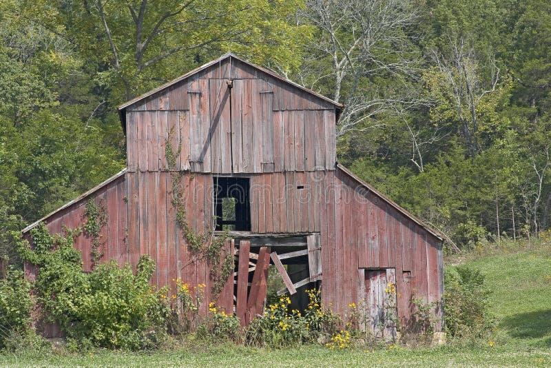 stara czerwona stodoła obrazy stock
