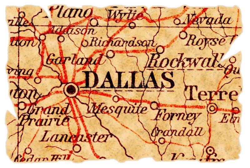 stara Dallas mapa zdjęcie royalty free