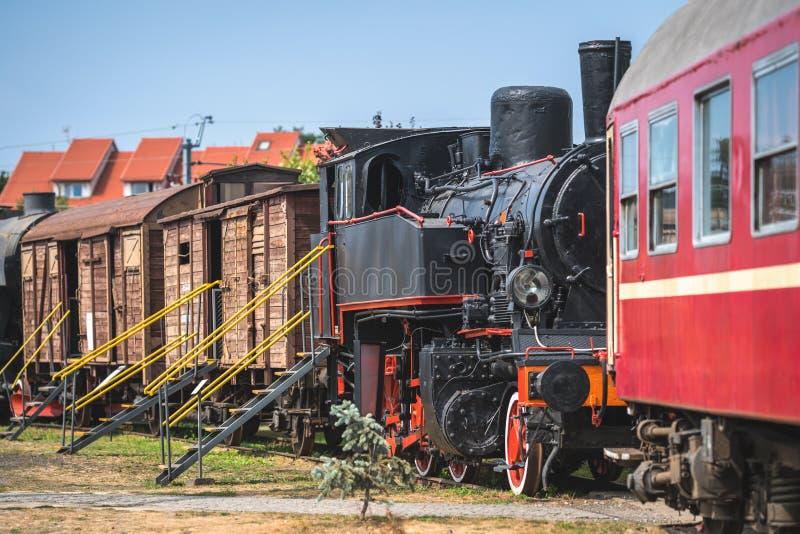 Stara disused węglowa parowa lokomotywa obraz stock