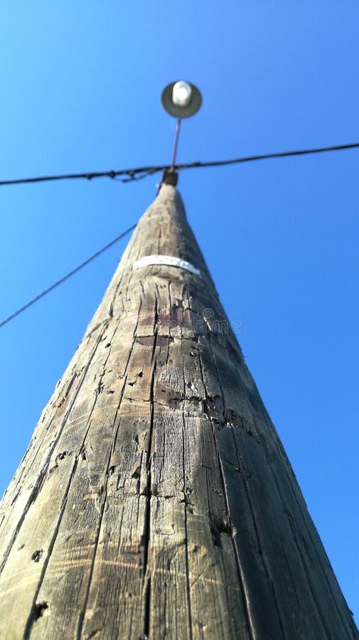 Stara drewna światła ulica obrazy stock