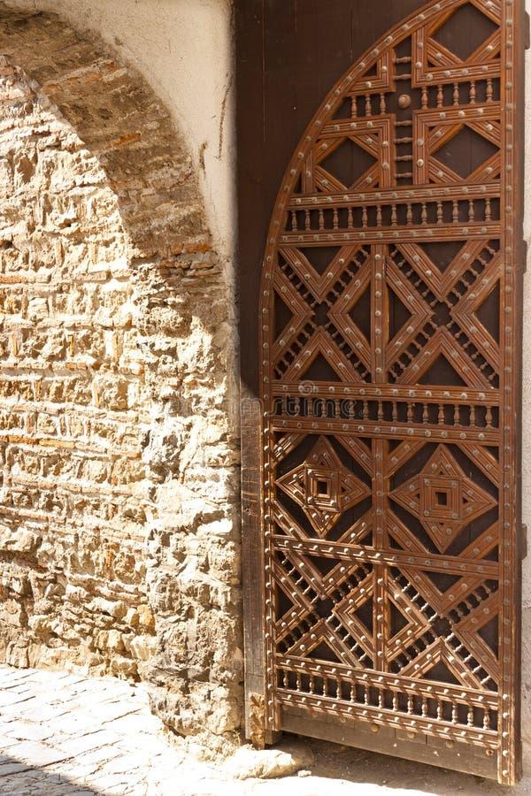 Stara drewniana brama zdjęcie royalty free