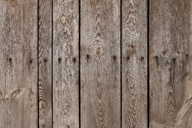Stara drewniana deska z stalowym sinker przybija tekstury tło tekstury stary drewno zaszaluje pionowo drewnianego fotografia stock