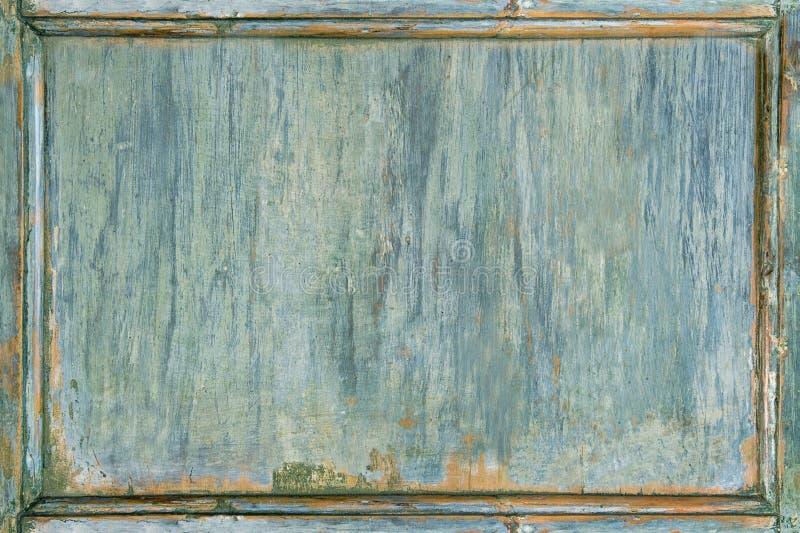 Stara drewniana malująca zieleni rama obraz stock