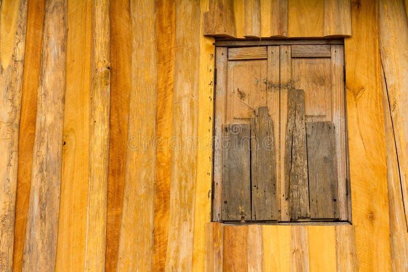 Stara drewniana okno ściana fotografia royalty free