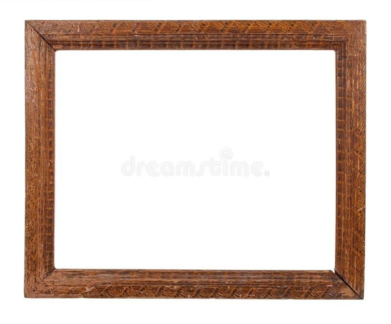 Stara drewniana rama fotografia stock