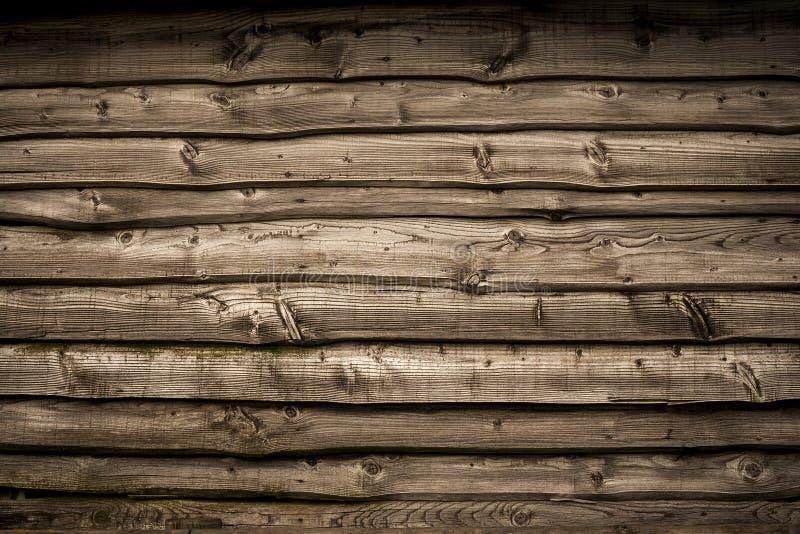 Stara drewniana stajni ściana zdjęcia royalty free