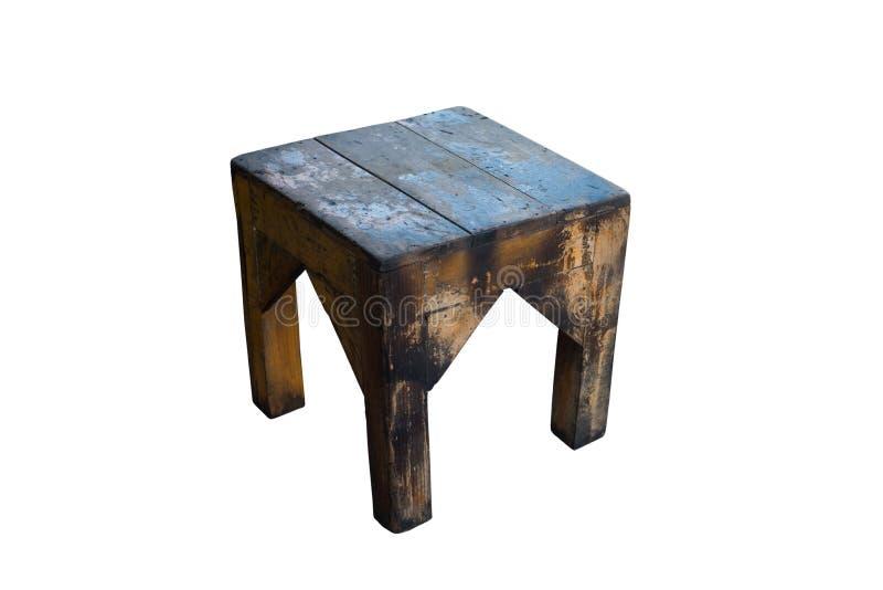 Stara drewniana stolec odizolowywająca na białym tle z ścinek ścieżką zdjęcia stock