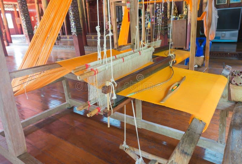 Stara drewniana tkactwo maszyna obrazy stock