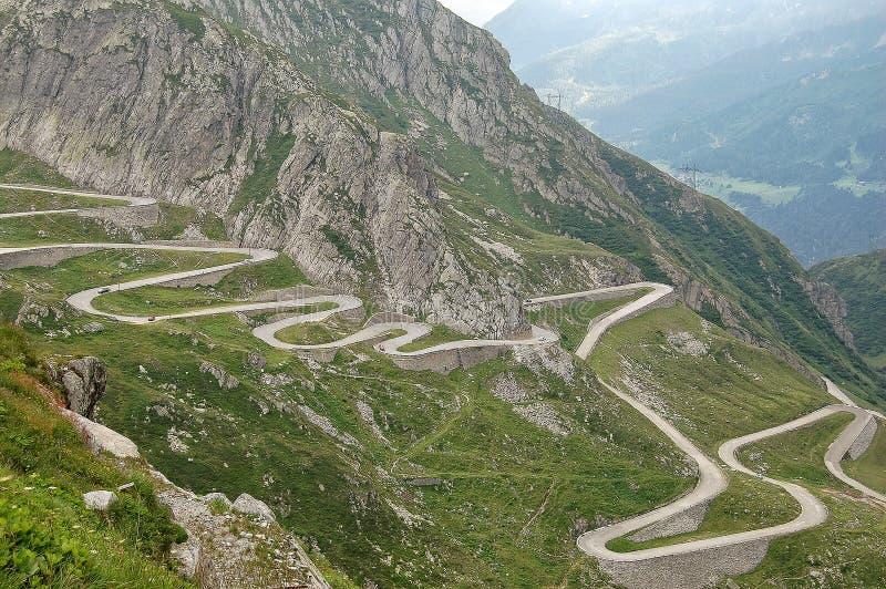 Stara droga St Gotthard przepustka zdjęcie stock