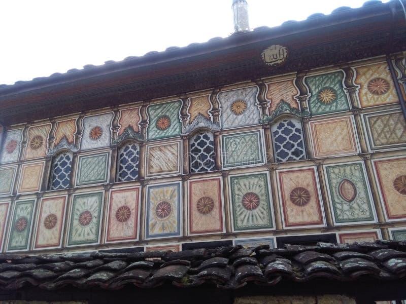 Stara dziejowa ściana w Tetovo fotografia stock