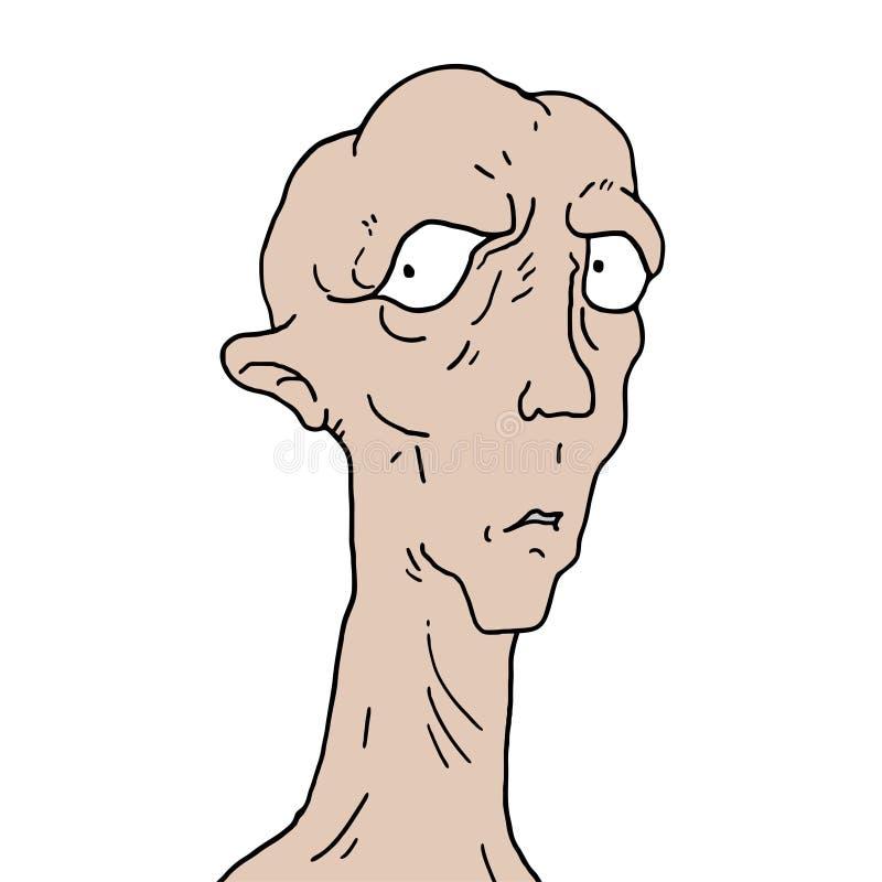 Stara elf twarz ilustracja wektor