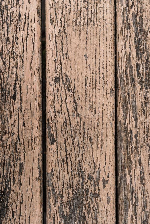 Stara farba pęka na drewnianym obraz stock