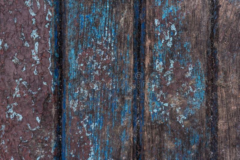 Stara farba pęka na drewnianym nawierzchniowym tle zdjęcie stock
