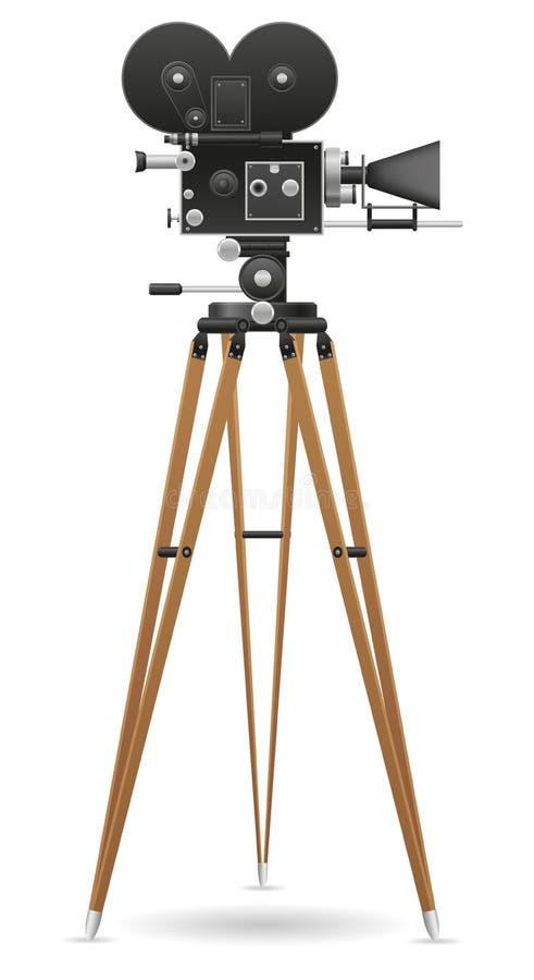 Stara filmu kamery wektoru ilustracja ilustracja wektor